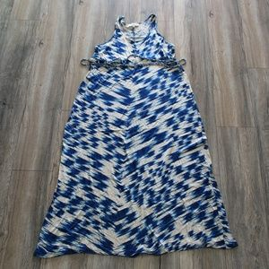 LOFT Maternity Tank Maxi Dress - Blue Tie Dye